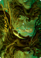 Neverwinter Dryad Art Card -  Gold-Stamped Signature