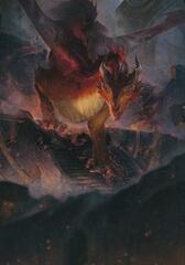 Red Dragon Art Card