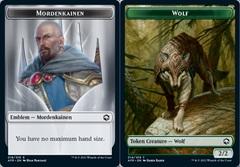 Emblem - Mordenkainen // Wolf Token - Foil