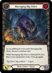 Barraging Big Horn (Red) - Rainbow Foil - Unlimited Edition