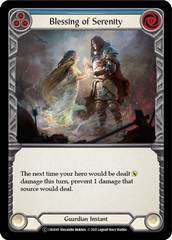 Blessing of Serenity (Blue) - Rainbow Foil - Unlimited Edition