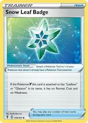 Snow Leaf Badge - 159/203 - Uncommon