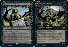 Graveyard Trespasser // Graveyard Glutton - Foil - Showcase