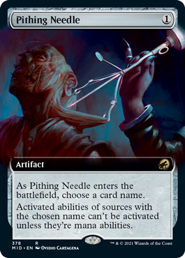 Pithing Needle - Foil - Extended Art