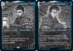 Dennick, Pious Apprentice // Dennick, Pious Apparition - Foil - Showcase