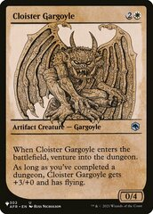 Cloister Gargoyle - The List