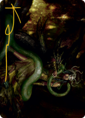 Saryth, the Viper's Fang Art Card - Gold-Stamped Signature