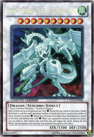 Shooting Star Dragon - CT07-EN004 - Secret Rare - Limited Edition - Promo