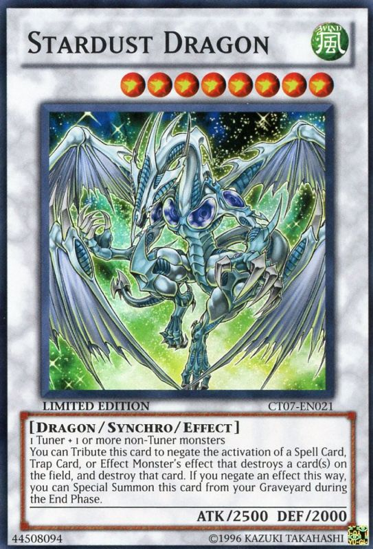 Stardust Dragon - CT07-EN021 - Super Rare - Limited Edition - Promo