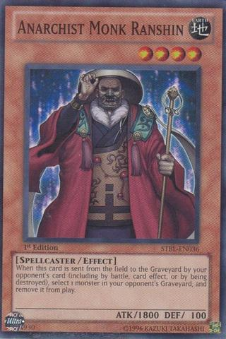 Anarchist Monk Ranshin - STBL-EN036 - Super Rare - 1st Edition