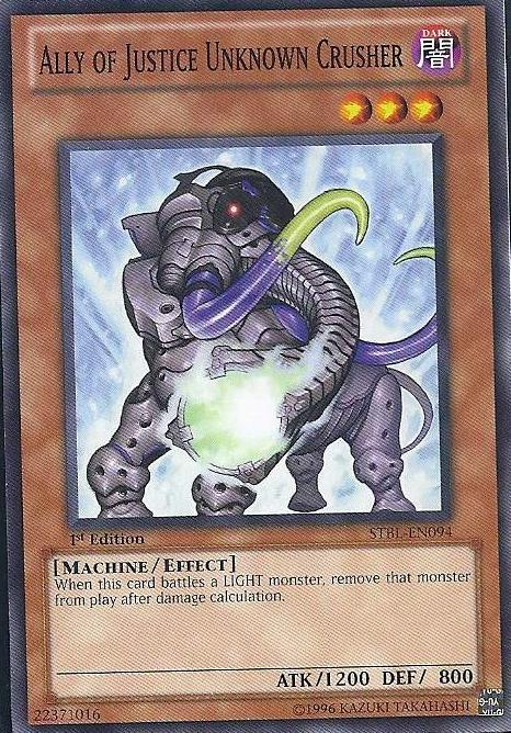 Ally of Justice Unknown Crusher - STBL-EN094 - Common - 1st Edition