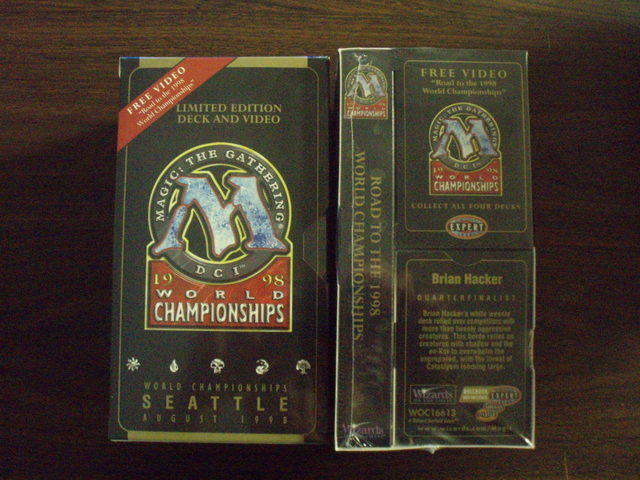 1998 Brian Hacker World Champ Deck w/VHS