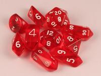 10 Piece Hybrid Translucent - Red