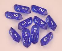 Crystal d6 10 pc set - blue
