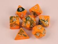 7 piece Toxic - Orange/Green