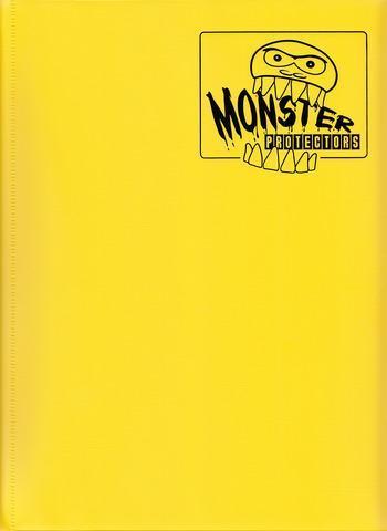 Monster Protectors 9 Pocket Matte Yellow Binder