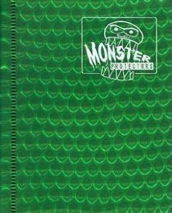 Monster Protectors 4 Pocket Green Binder