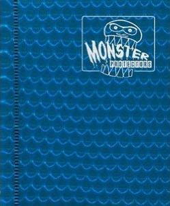 Monster Protectors 4 Pocket Blue Binder