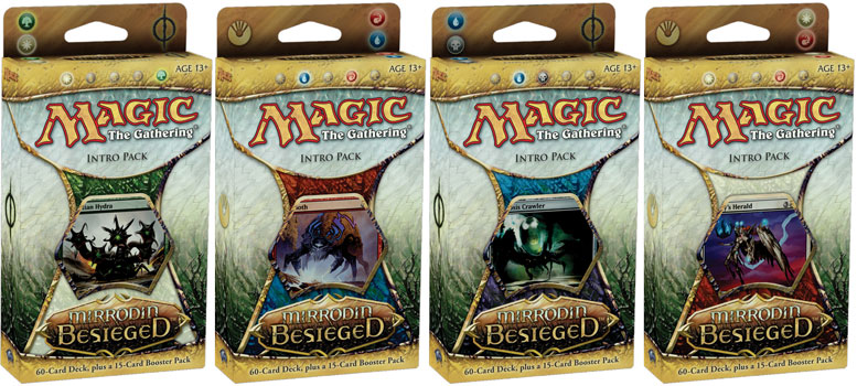 All 4 Mirrodin Besieged Intro Packs