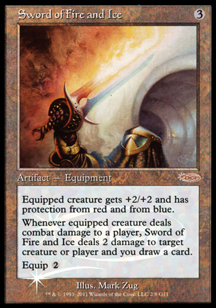 Sword of Fire and Ice - Foil DCI Judge Promo