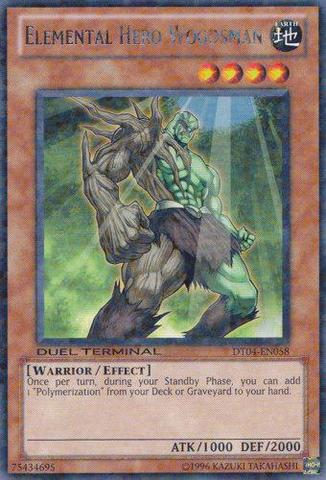 Elemental Hero Woodsman - DT04-EN058 - Rare Parallel Rare - Duel Terminal