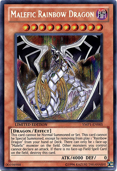 Malefic Rainbow Dragon - YMP1-EN005 - Secret Rare - Limited Edition