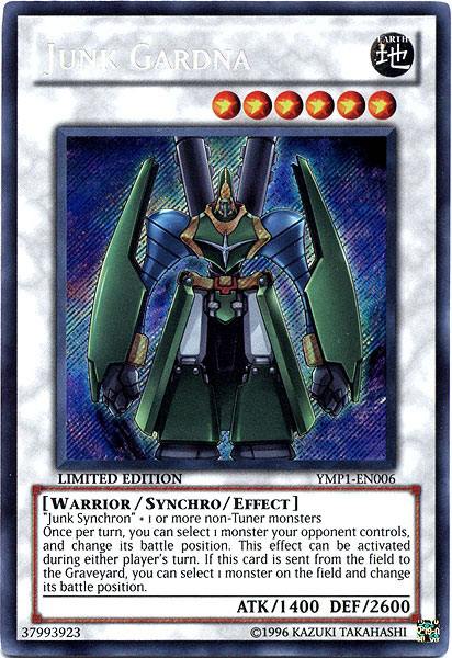 Junk Gardna - YMP1-EN006 - Secret Rare - Limited Edition