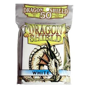 Dragon Shield 50 Count Yugioh Sized Sleeves - White