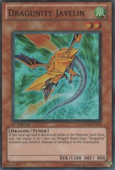 Dragunity Javelin - HA04-EN014 - Super Rare - 1st Edition on Channel Fireball