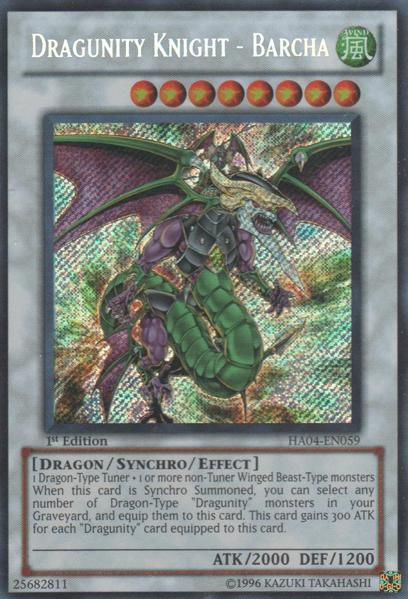Dragunity Knight - Barcha - HA04-EN059 - Secret Rare - 1st Edition