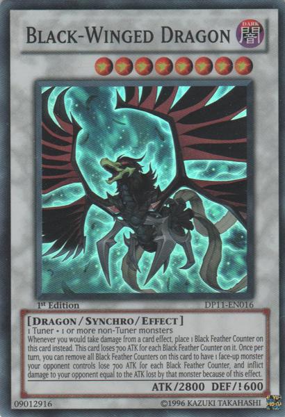 Black-Winged Dragon - DP11-EN016 - Super Rare - 1st Edition