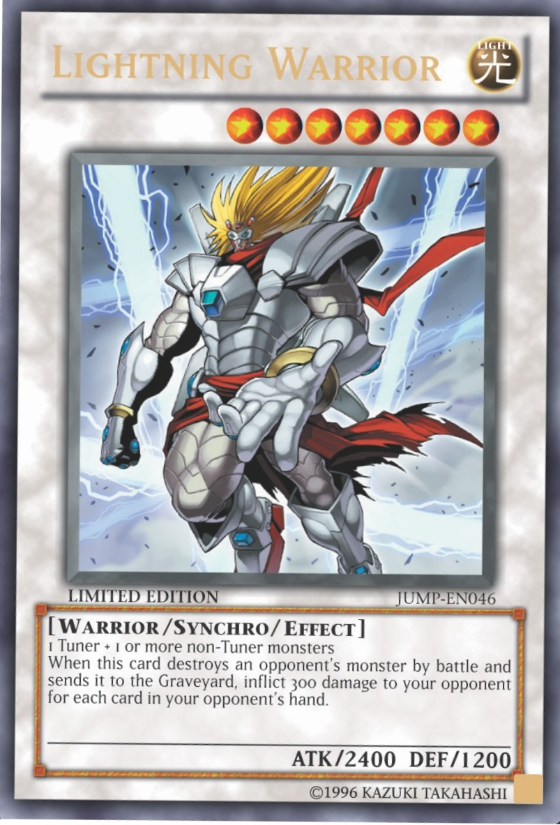 Lightning Warrior - JUMP-EN046 - Ultra Rare - Limited Edition