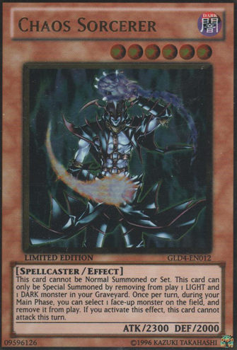 Chaos Sorcerer - GLD4-EN012 - Gold Rare - Limited Edition