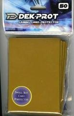 Dek Prot 50ct. Yugioh Sized Sleeves - Sunset Gold