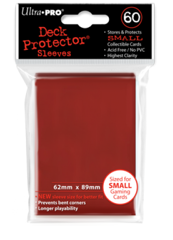 Ultra Pro Small Size Sleeves - Red - 60ct