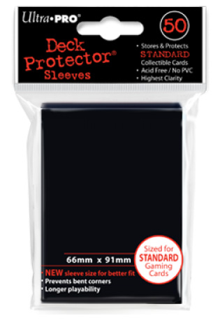 Ultra Pro Standard Sleeves - Black (50 ct.)