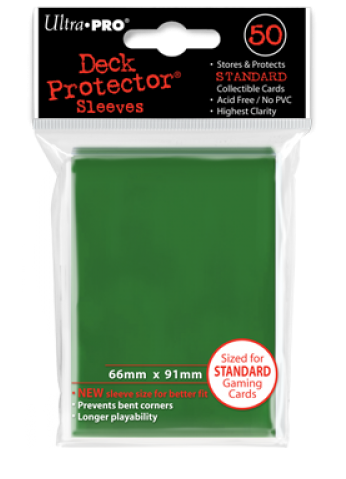 Ultra Pro - Standard Size 50 ct Sleeves - Green