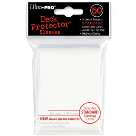 Ultra Pro Standard Sleeves - White (50 ct.)