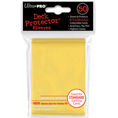 Ultra Pro Standard Size Sleeves - Yellow - 50ct