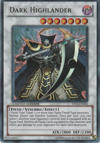 Dark Highlander - YF01-EN001 - Ultra Rare - Promo Edition