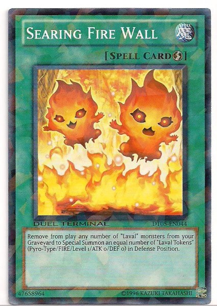 Searing Fire Wall - DT05-EN044 - Parallel Rare - Duel Terminal