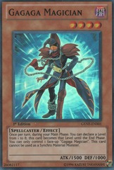 Gagaga Magician - GENF-EN001 - Super Rare - 1st Edition on Channel Fireball