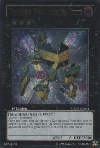 Number 34: Terror-Byte - GENF-EN041 - Ultimate Rare - 1st Edition
