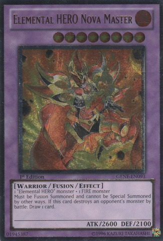 Elemental HERO Nova Master - GENF-EN093 - Ultimate Rare - 1st Edition