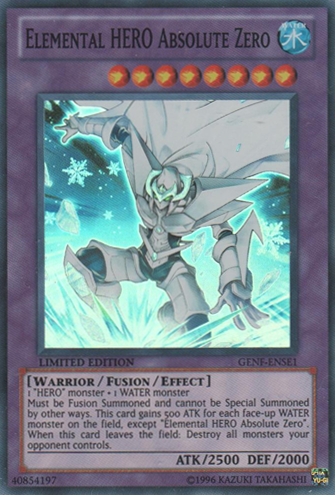 Elemental HERO Absolute Zero - GENF-ENSE1 - Super Rare - Limited Edition - Promo