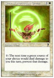 Circle of Protection Green - Foil