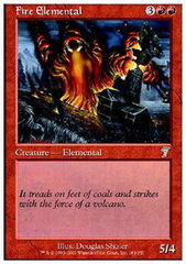 Fire Elemental - Foil on Channel Fireball