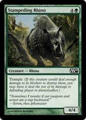 Stampeding Rhino - Foil