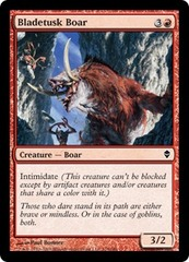 Bladetusk Boar - Foil on Channel Fireball