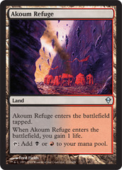 Akoum Refuge - Foil on Channel Fireball